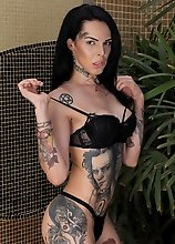 The tattooed beauty by the name of Gaby Ink is back and taking in some hardcore cock. Gorgeous and inked she loves a good hard dick. This young sexy t